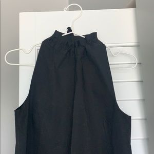 COS BLACK COTTON MINI DRESS | size 4